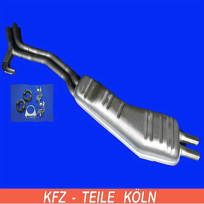 bmw e34 525i muffler end pipe exhaust system assembly kit ebay. Black Bedroom Furniture Sets. Home Design Ideas