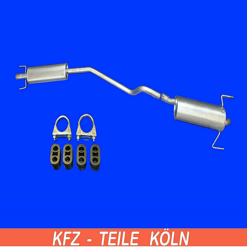 opel astra h 1 6 muffler middle silencer exhaust system ebay. Black Bedroom Furniture Sets. Home Design Ideas